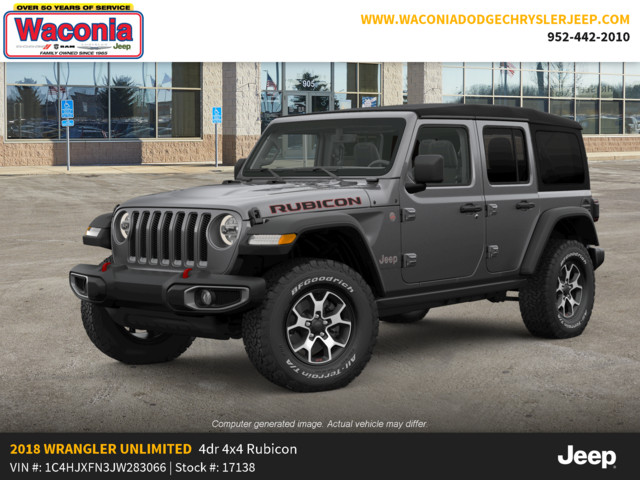 New 2018 JEEP Wrangler Rubicon 4x4