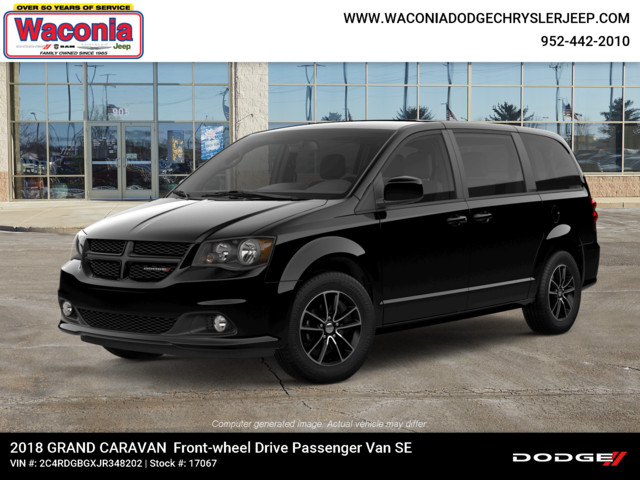 New 2018 Dodge Grand Caravan Se Plus Wagon Passenger Van In Waconia