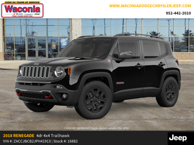 Jeep Renegade 4x4 >> New 2018 Jeep Renegade Trailhawk 4x4 Sport Utility In Waconia 16882